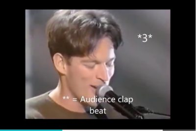 Harry Connick Jr. Rhythmic Displacement Explanation