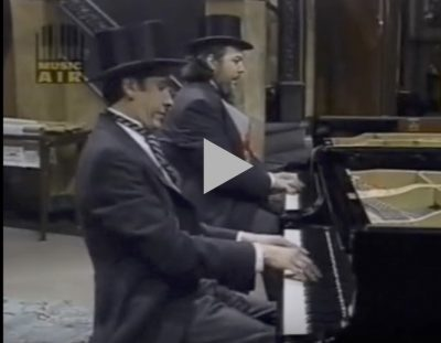"""Jools Holland & Doctor John as the """"Boogie Woogie Twins"""""""