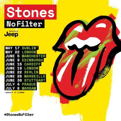 The Rolling Stones UK, IRE and EU No Filter Tour Announced