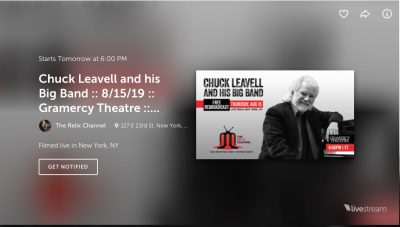 Rebroadcast-Chuck Leavell & His Big Band- Livestreamed on Relix