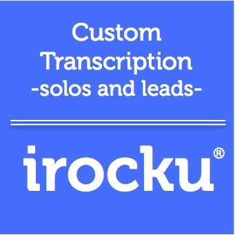 IROCKU Transcriptions- Piano Solos & Leads